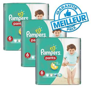 COUCHE 98 Couches Pampers Baby Dry Pants taille 6