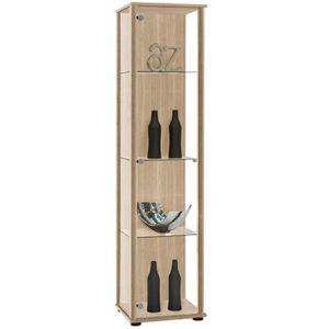VITRINE - ARGENTIER Vitrine avec une porte coloris chêne - Dim: L 42 x