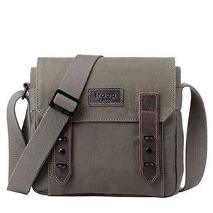 SACOCHE TRP0491 Troop London Heritage Canvas Leather Acros