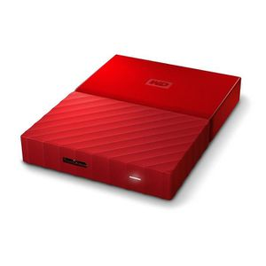 DISQUE DUR EXTERNE Disque dur portable WD My Passport - 2 To, rouge