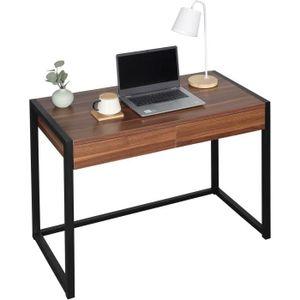 BUREAU  WOLTU Bureau d'ordinateur avec 2 tiroirs,Table de