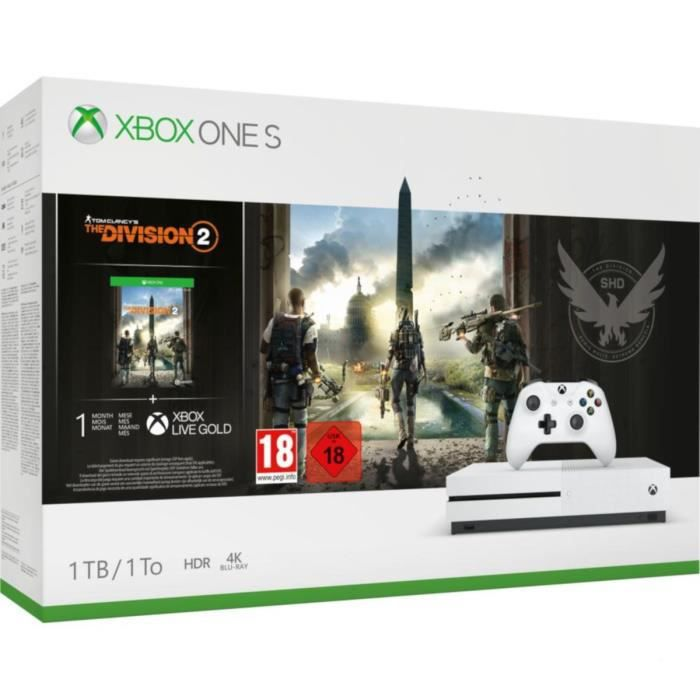 Xbox One S 1To Tom Clancy's the Division 2