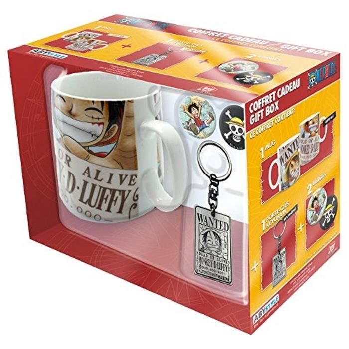 Pack Mug + Porte-clés + Badges One Piece - Wanted - ABYstyle