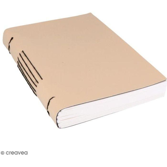 Carnet de notes à couverture effet cuir - 15 x 20 cm