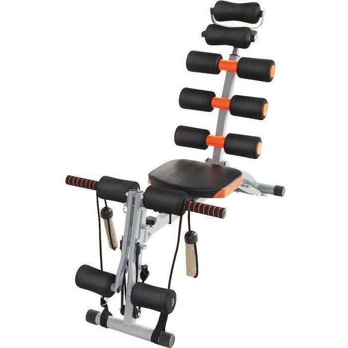 Banc de Musculation CASNELY Appareil de musculation pour abdominaux, bras dos et épaules