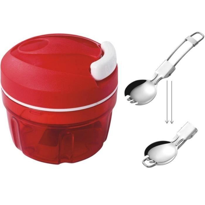 Ustensiles de Cuisine Shredder Hachoir à Légumes Hachoir Manuel (Rouge)