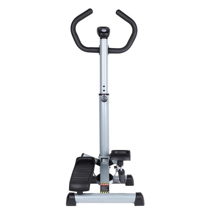 Marchepied pliable Machine d'étape d'équipement de stepper d'escalier pour l'exercice - gris&noir-MEN