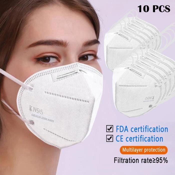 Tonsee®10 PCS Unisexe Bouche Masque Anti-Poussière Pollution Visage Masque Réutilisable Vélo Camping mins2563