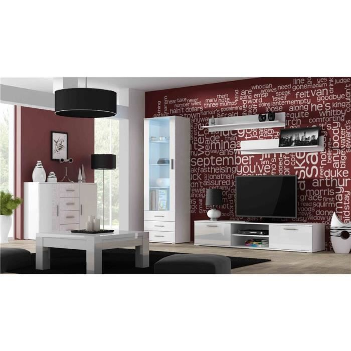 Ensemble meuble TV design SANO 2 - Blanc