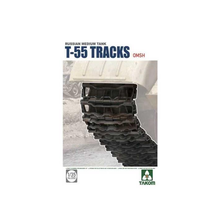 Maquette Accessoires Militaires : Set de chenilles maillons pour T-55 Type OMSH aille Unique Coloris Unique