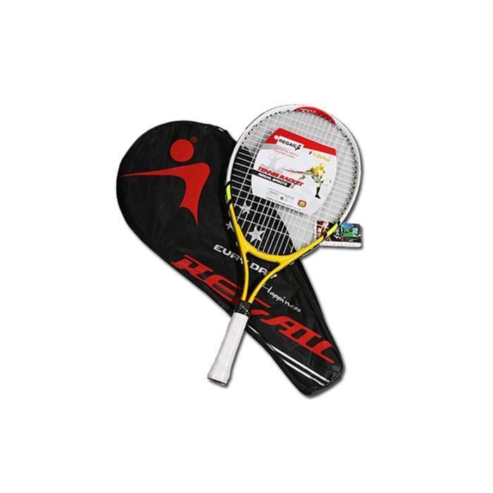 Raquette de tennis pour l'entraînement et la pratique, raquette pour enfants 2pcs jaune