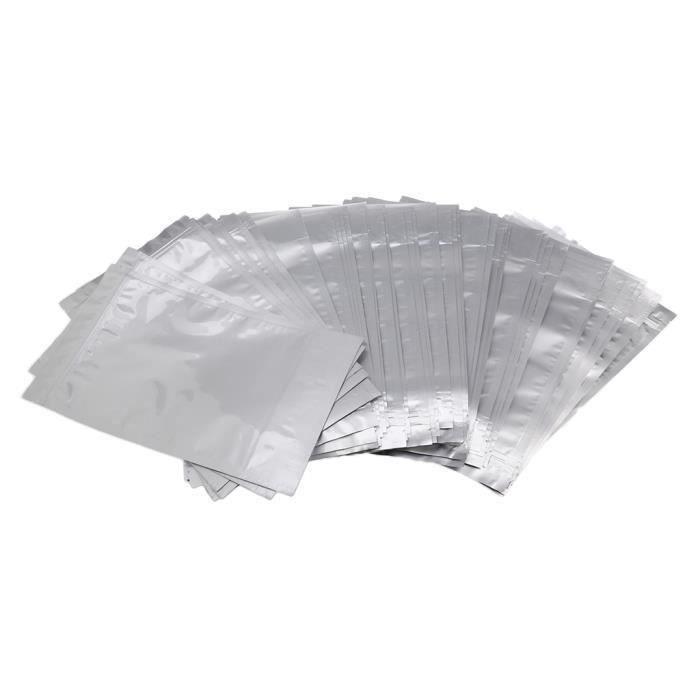 SAC PROTECTION - SACHET PLASTIQUE 50 morceaux de sacs de nourriture d'aluminium