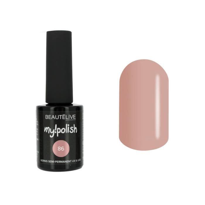 Beautélive Vernis à ongles semi permanent 86 - Nude chic , Flacon 15ml Ongle