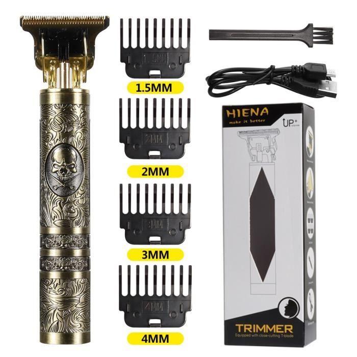 Le crâne rasoir électrique T9 rétro pour hommes, rasoir USB sans fil, rasoir professionnel pour les cheveux