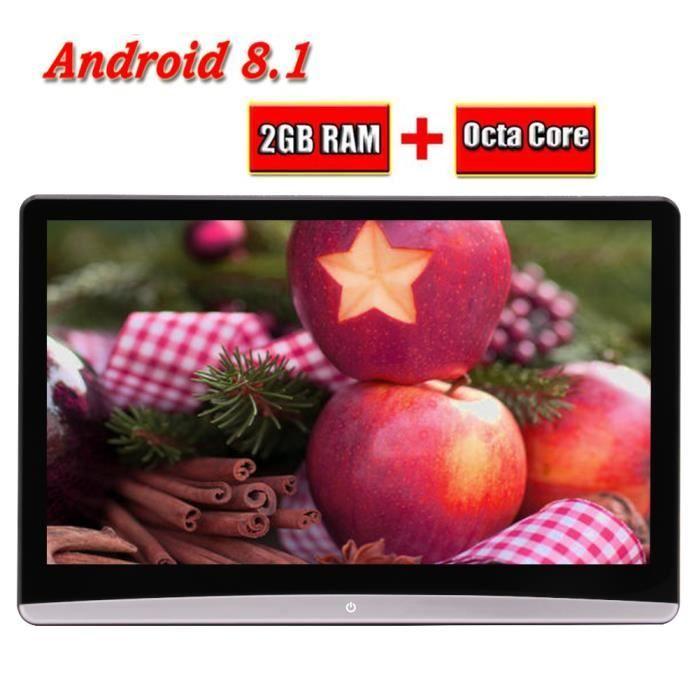 Eincar Moniteurs 12.5 pouces Android Têtière 8.1 Quad Core RAM 2G + ROM 8G voiture Télévision écran Autoradio Siège arrière unités d