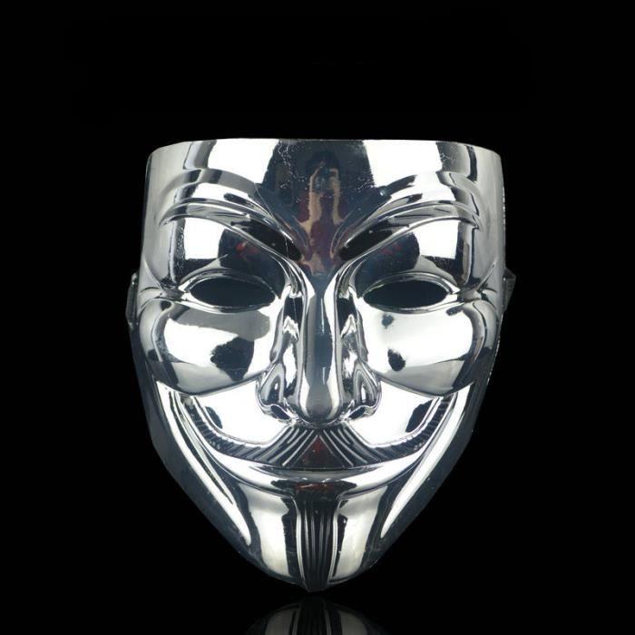Pirate anonyme V Pour Vendetta Guy Fawkes Déguisement Masque De Visage