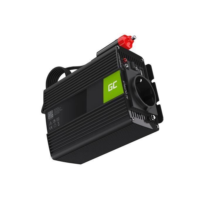 Green Cell 150W/300W Pur Sinus Convertisseur de Tension DC 12V AC 230V Power Inverter sinusoïdale, Onduleur Transformateur