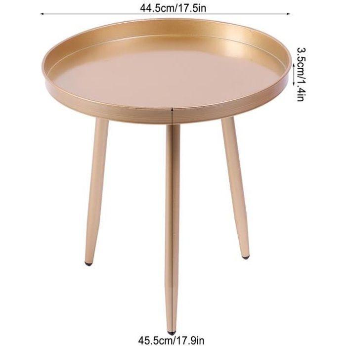 Table basse ronde en métal simple moderne de table d'appoint pour le salon à l'intérieur à l'extérieur-FUT〄