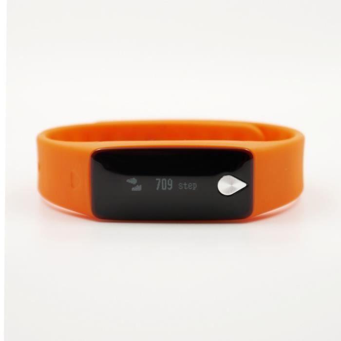iMCO K5 Bracelet d'activité et de suivi de la fréquence cardiaque mixte Orange