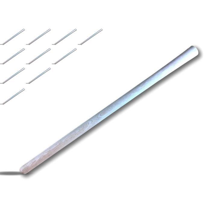 Manche pioche travaux - Bois de hêtre - Dimensions : Longueur de 90 cm, ⌀ de 35 mm - ⌀ de l œil 47,5 mm - 29140x10