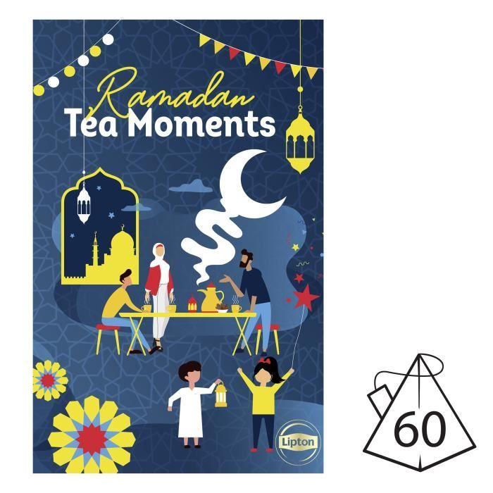 LIPTON Calendrier du Ramadan pour partager un moment de fête avec votre famille et vos amis, idée cadeau idéal à offrir - 60 sachets