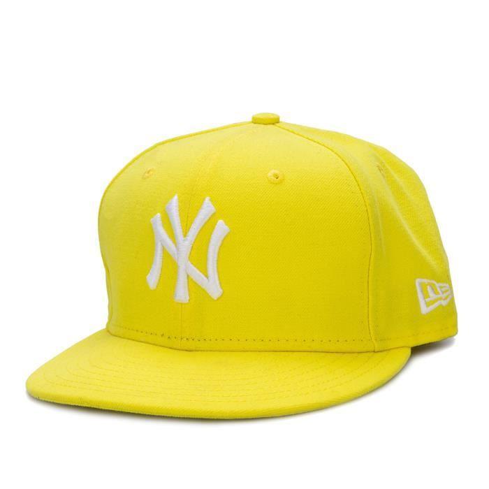 New Era Casquette New York Yankees 59Fifty Basic Jaune Accessoires