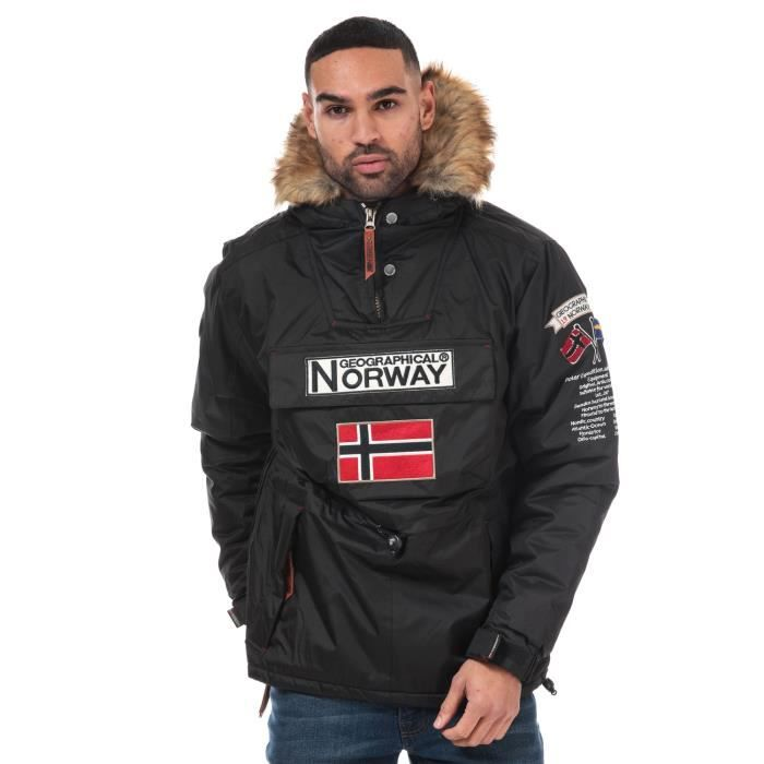 Geographical Norway Parka Barmen Noir Homme