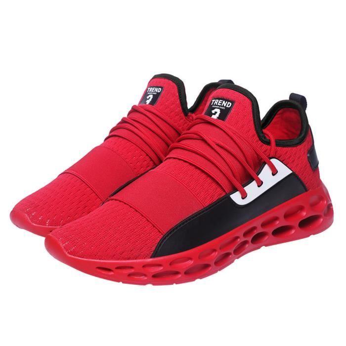 Hommes occasionnels pour chaussures de tennis adultes baskets à lacets respirantes légères zhizheyea gris
