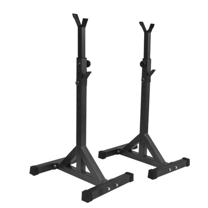 Squat rack Cadre d'haltérophilie En acier massif Support de fitness