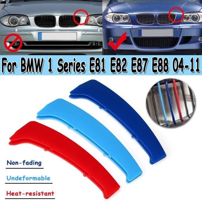 Couverture Grille Clip Calandre Capuchon Boucle Bande M Couleur Pour BMW Série 1 E81 E82 E87 E88 2004-2011