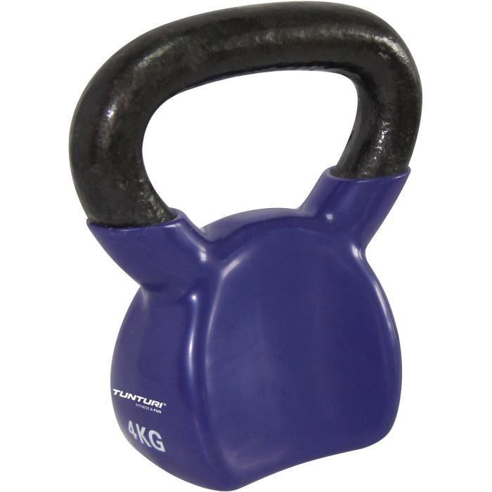 TUNTURI Kettlebell vinyle 4kg violet