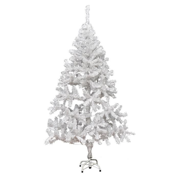 arbre de no l artificiel avec support en plastique blanc sapin de no l 180cm 620 branches. Black Bedroom Furniture Sets. Home Design Ideas