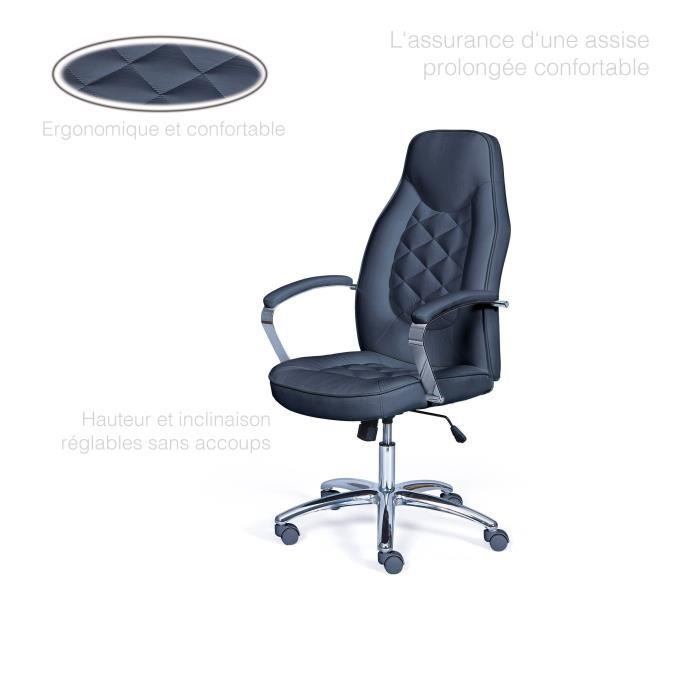 Fauteuil Bureau Chaise Confort De Roulette Inclinable Confortable