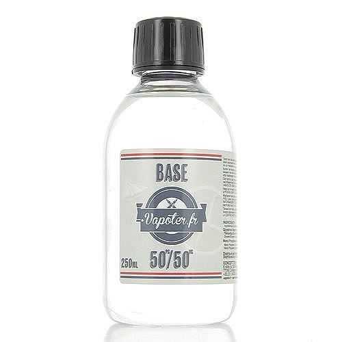 LIQUIDE Base 250ml 50/50 00mg Vapoter.fr