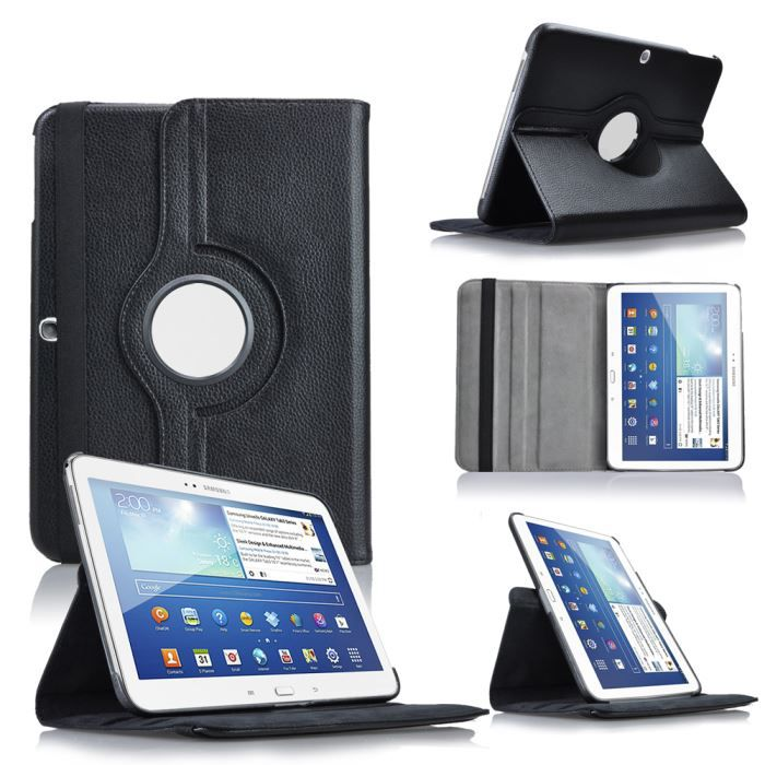 etui coque noir samsung galaxy tab 3 10 1 tablette achat. Black Bedroom Furniture Sets. Home Design Ideas