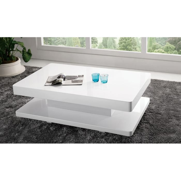 Table basse design laqu electre blanc achat vente - Table basse moderne design ...