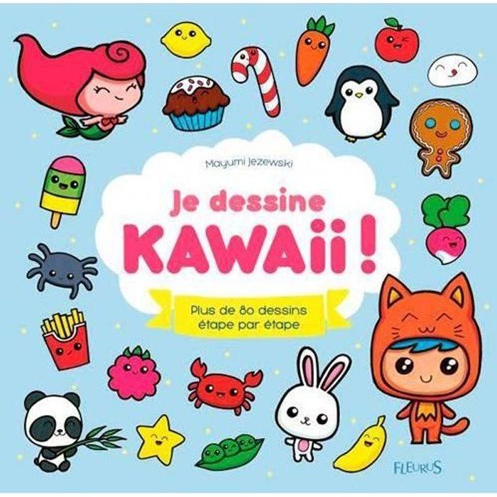 LIVRE LOISIRS CRÉATIFS Livre - je dessine kawaii ! plus de 80 dessins éta