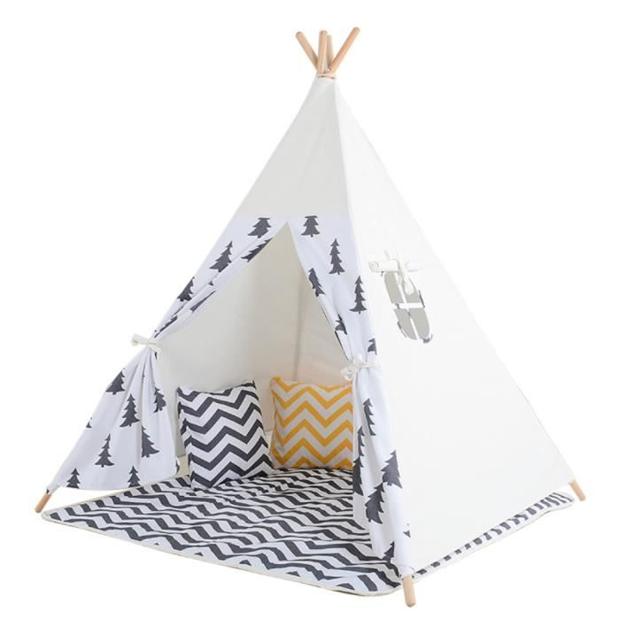 tent tipi pour enfant avec coton textile arbre noir. Black Bedroom Furniture Sets. Home Design Ideas