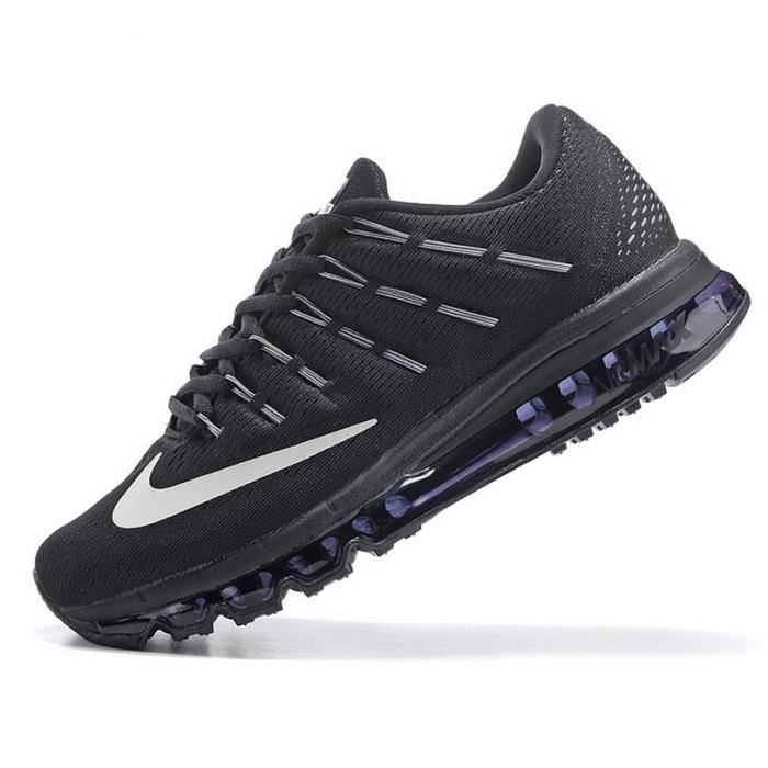 nike air max 2016 homme running chaussures de sport basket blanc et noir tu achat vente. Black Bedroom Furniture Sets. Home Design Ideas