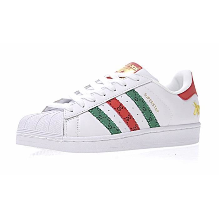 9c7eb82cffec87 Baskets Gucci x adidas Superstar 80s Chaussures Sneakers Basses ...