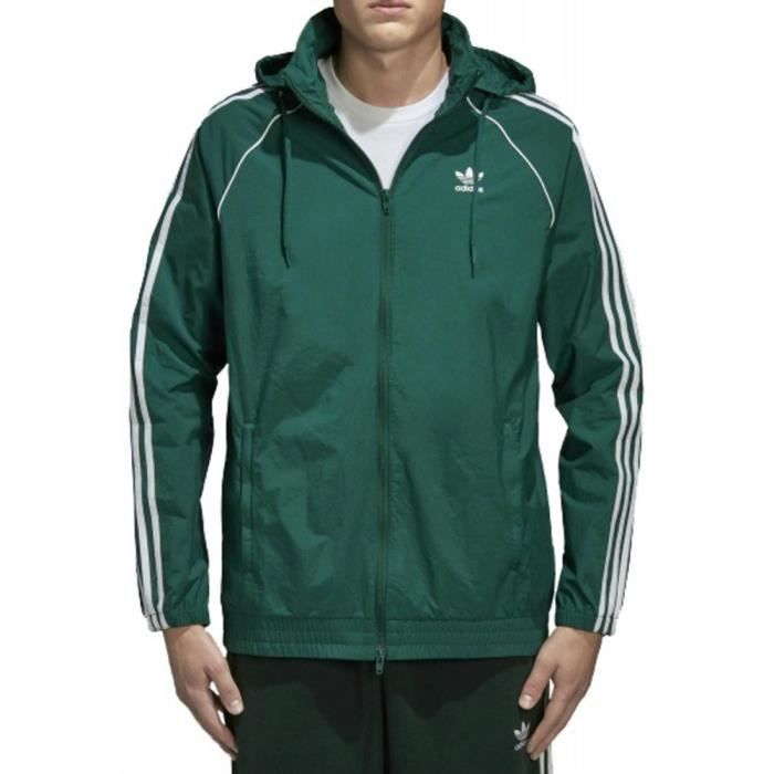 Adidas Adidas Originals Superstar Windbreaker Homme Veste Vert