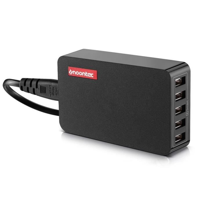 noontec powa hub 5 port chargeur usb multi port adaptateur. Black Bedroom Furniture Sets. Home Design Ideas