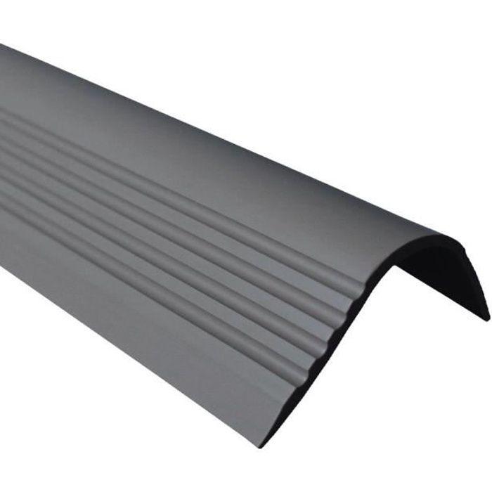 bande de bordure Gris Clair Nez de marche profil d/'angle PVC autoadh/ésif 50x40mm antid/érapant 80cm descalier-protection