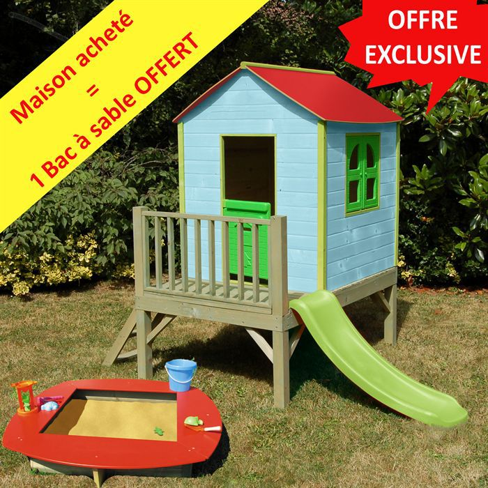 Maisonnette myrtille bac sable offert achat vente for Destockage soulet