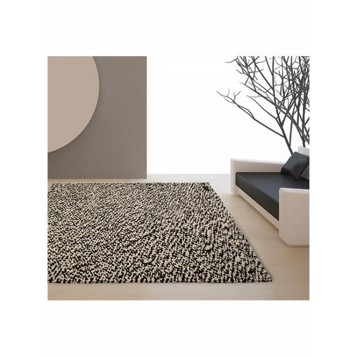 grand tapis pour salon pixels noir et blanc 170x240 par. Black Bedroom Furniture Sets. Home Design Ideas