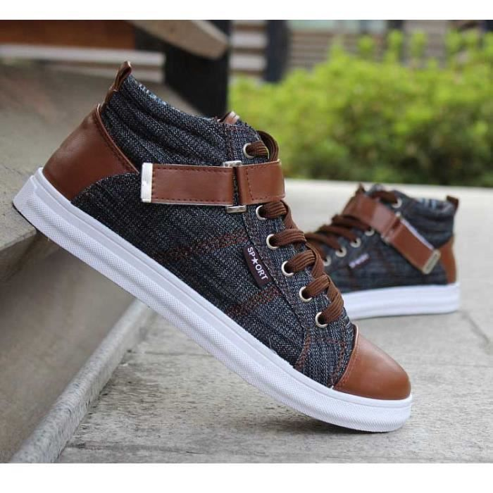 Printemps Baskets Ete Fashion Montantes Hommes Snq4U