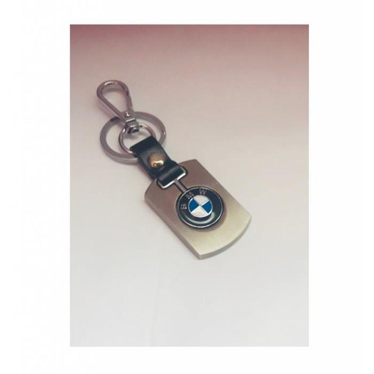 BMW Porte-cl/és Original Disc en Acier Inoxydable laqu/é Argent