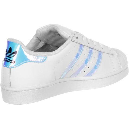 Adidas Superstar Hologram AQ6278 Blanc - Cdiscount Chaussures