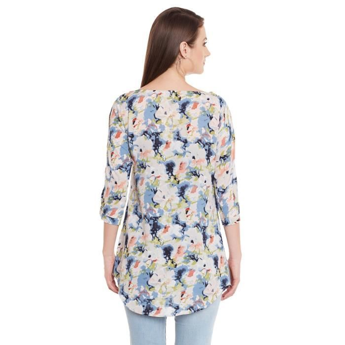 Womens Crepe Floral Printed Tunic (ak_7527) Q5KME Taille-34