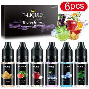 LIQUIDE [6pcs x 10ml] Vape e liquide Cigarette électroniqu